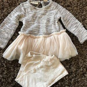 Cream sweater and pant set